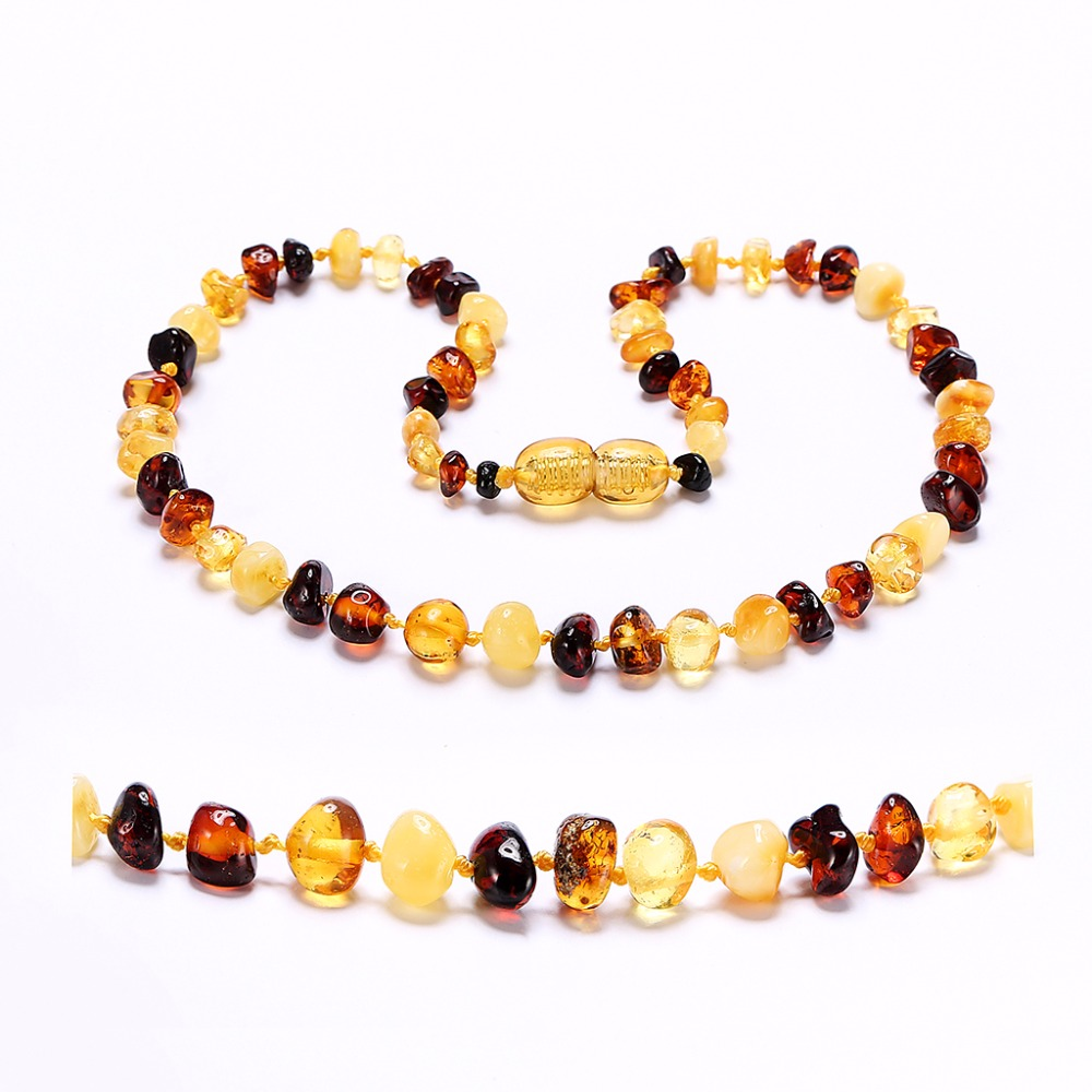 [DROPSHIP] Amber Teething Kolye/Bilezik için Bebek-3 Sizes-4 Colors
