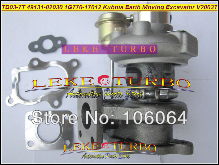 TD03-7T Kubota Earth Moving Ekskavatör 49131-02020 Için 1G770-17012 Turbo 2003-Bobcat için S160 V2003 V2003T F2503 F2503-TE-C