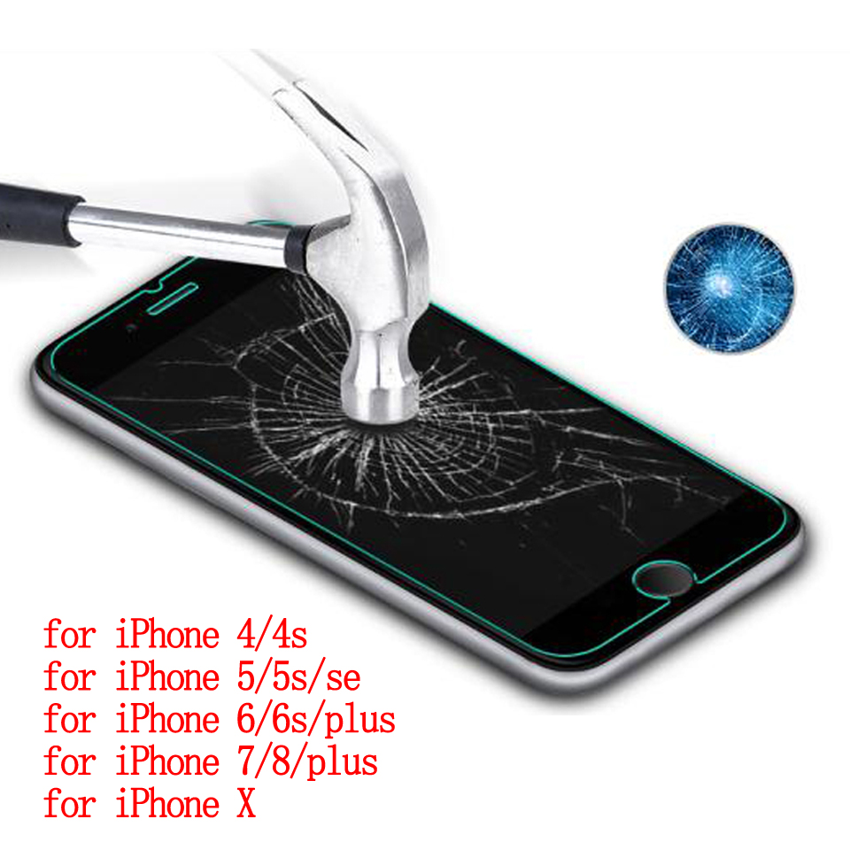 Wellzly temperli cam iphone için 6 s iphone 5 cam ekran koruyucu kapak için iPhone 4 4 s 5 5 s se 6 s 7 8 x artı 2.5d HD 9 H