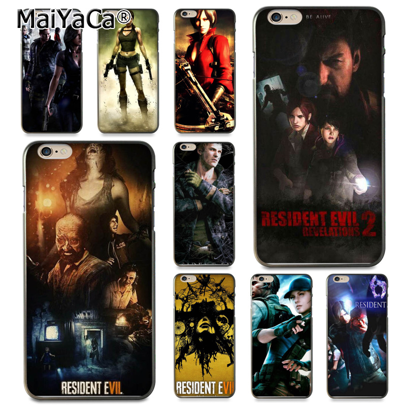 MaiYaCa Resident Evil Darkside Chronicles Coque Kabuk Telefon Kılıfı için Apple iPhone 8 7 6 6 S Artı X 5 5 S SE 5C kapak