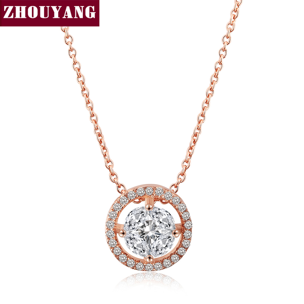 Top Quality Noble Crystal Rose Gold Color Fashion Pendant Jewelry Made with Austria Crystal Wholesale ZYN371 ZYN372