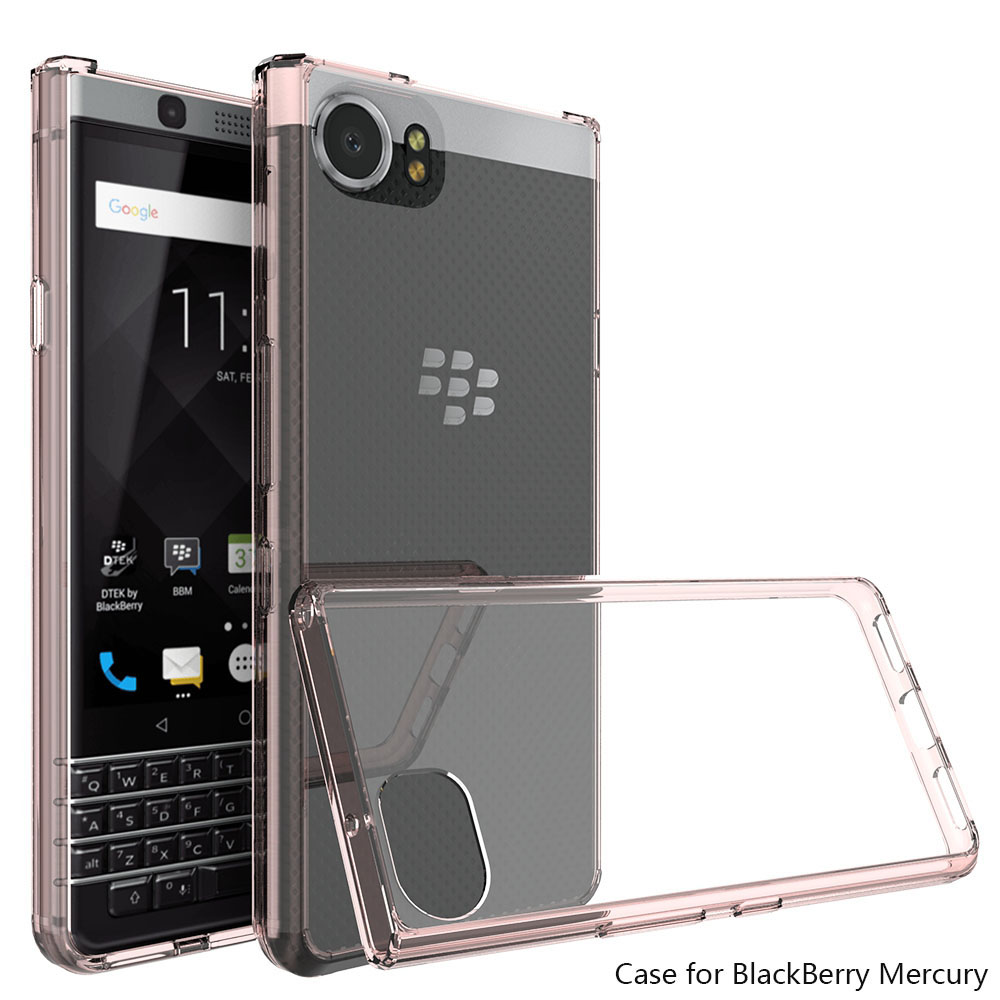 Ultra Ince TPU Akrilik Hard Case Blackberry Keyone Için Şeffaf Crystal Clear Kapak Blackberry Keyone/Mercury/DTEK70 @