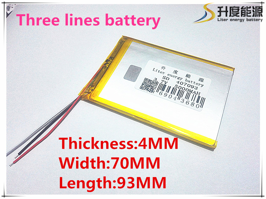 4*70*93mm 3.7 V 5000 mah Tablet güncelleme Pil Için 7 Tablet Q8, Q88 A13, U25GT, Freeander PD10 3G, PD20 3G TV MTK6575, MTK6577