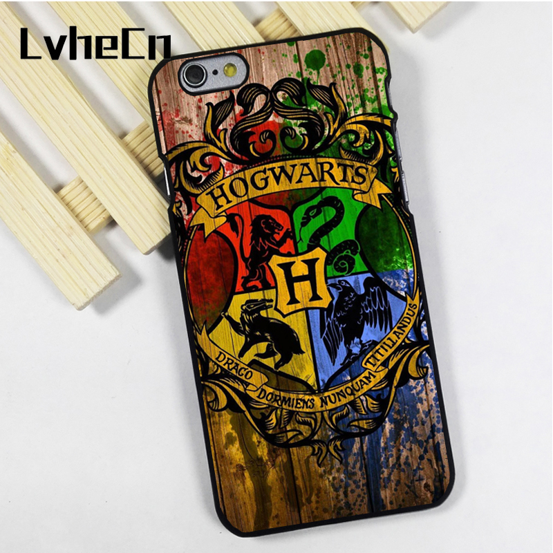 LvheCn telefon kılıfı kapak fit için iPhone 4 4 s 5 5 s 5c SE 6 6 s 7 8 artı X ipod touch 4 5 6 Hogwarts Crest Harry Potter Wizards