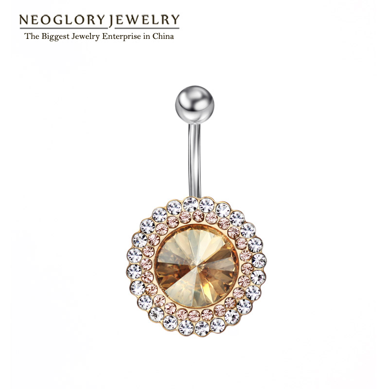 Neoglory Hot Sexy Fashion Belly Piercing Body Jewelry Navel & Bell Button Rings Rhinestone Summer 2017 New