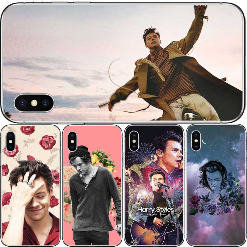 One Direction harry styles sert plastik telefon Kılıfı Kapak için Iphone 6 6 S 7 8 Artı X 5 S SE Coque çapa