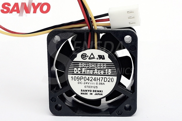Sanyo 109P0424H7D20 4020 0.08A 4 CM 24 v 40mm fan blower