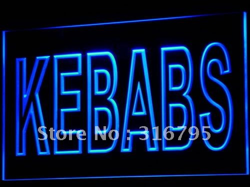 Kebaplar i639 Cafe Enseigne Lumineuse LED Neon Işık Sign On/Off Swtich 20 + Renkler 5 Boyutları