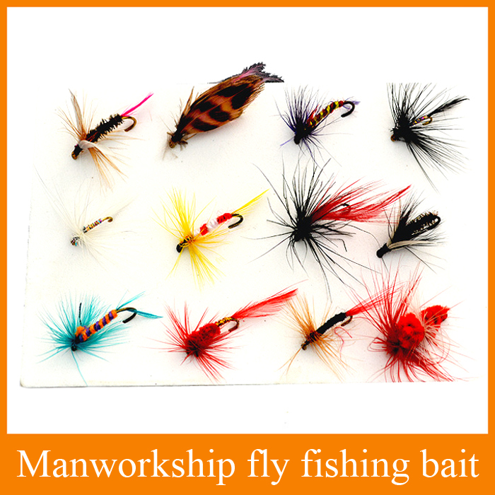 Fly lure 12pcs insect bait soft lure Dry Fly Butterfly Design Trout Lures Bugs for Rod Reel Line For Fishing