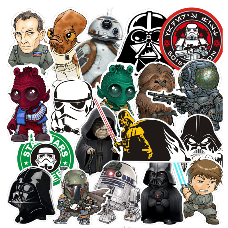 Elsadou Star Wars 35 adet Moda Sticker Darth Vader