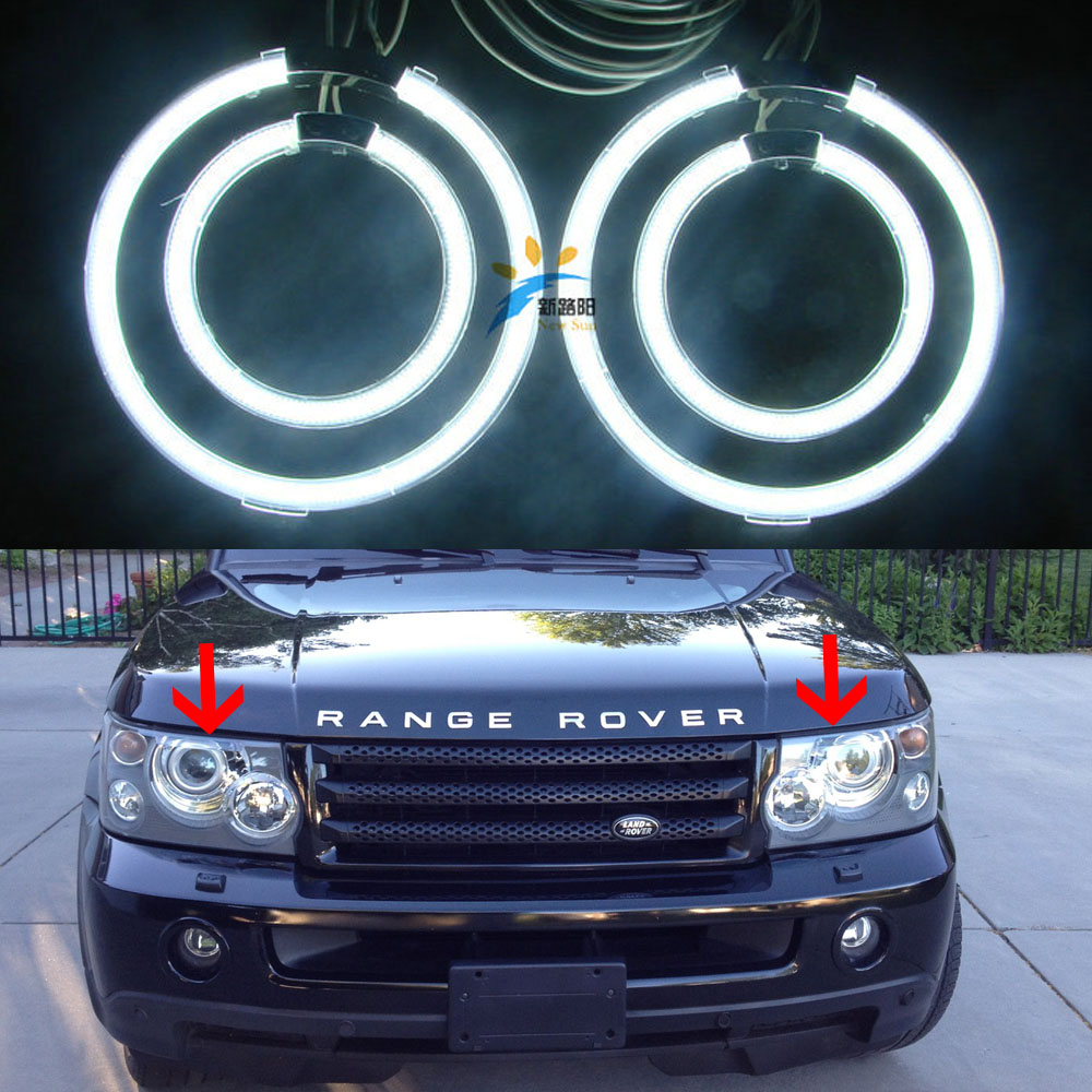 Ultra parlak CCFL Angel Eyes kit 12 V Için Land Rover Range Rover 2003 2004 2005 2006 2007 2008 2009 XENON FAR Halo yüzükler