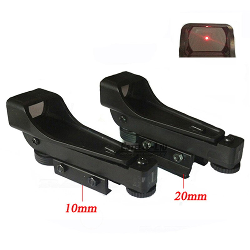 Taktik Protable Refleks sight Red Dot Sight Kapsam Geniş Görünüm Airgun 10 veya 20mm Weaver Rail Mounts CR2032 3 V