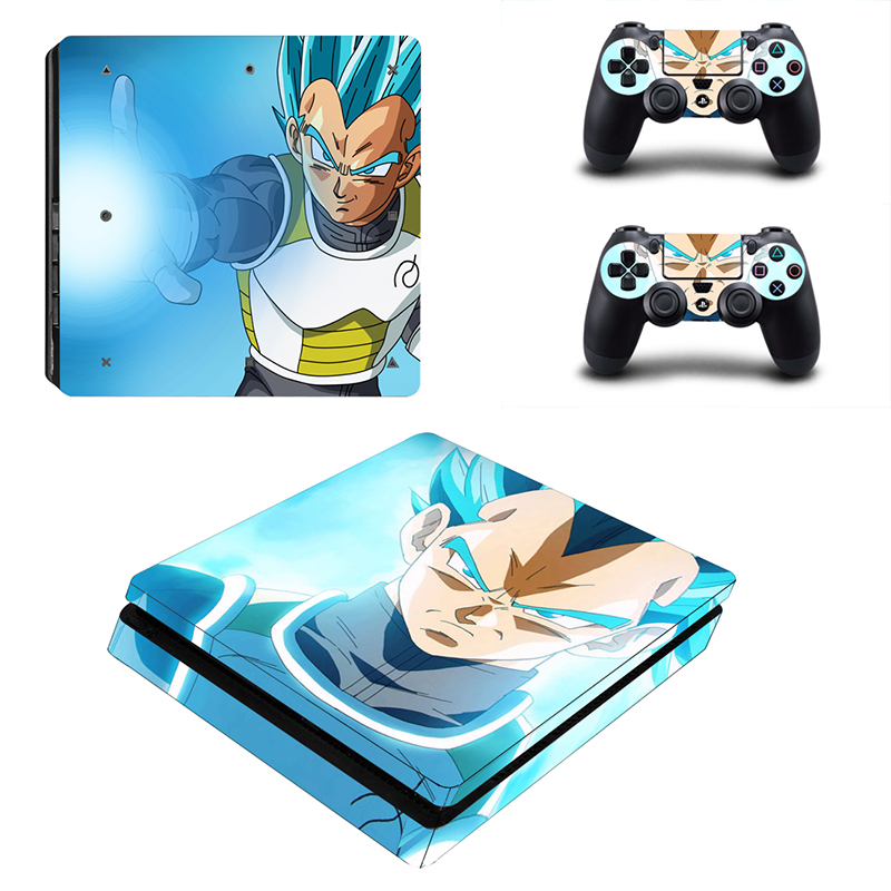 HOMEREALLY Ps4 ince Cilt Dragon Ball Son GoKu Vegeta Klasik Sticker Kapak Sony Playstation 4 Slim Konsol ve Denetleyici
