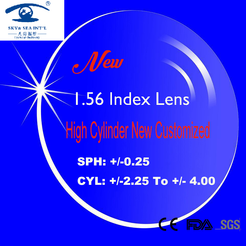 New 1.56 Index Prescription Lens for Frame Glasses Men Women lentes opticos Spectacle Lenses High Cylinder from -2.25 to -4.00