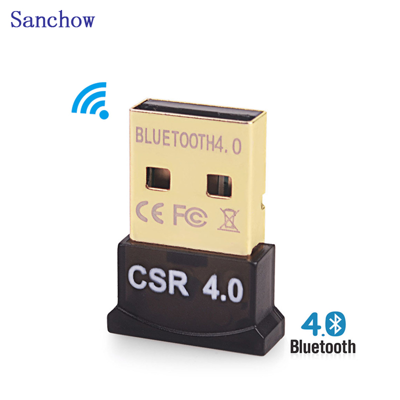 Sanchow Bluetooth Dongle, USB Bluetooth 4.0 Adaptör için PC/MASAÜSTÜ Desteği, Windows 10/8. 1/8/7/XP/Vista/2003