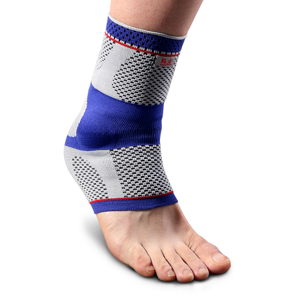 Kuangmi Five Star Compression Ankle Sleeve Silicone Pad Support Injury Recovery Sports Breathable Football Sock Ankle Protector