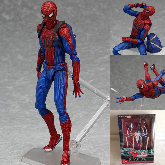 Spiderman The Amazing Spiderman Figma 199 PVC Action Figure Koleksiyon Modeli Bebek Oyuncak 16 cm