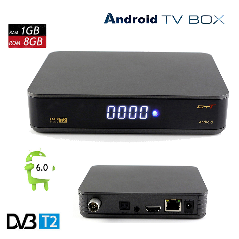 GTT Android 6.0 TV KUTUSU Amlogic S905D 1G 8G 1080 P HD Sinyal Alıcısı Set Top Box Destek DVB-T2 Netflix Youtube + klavye