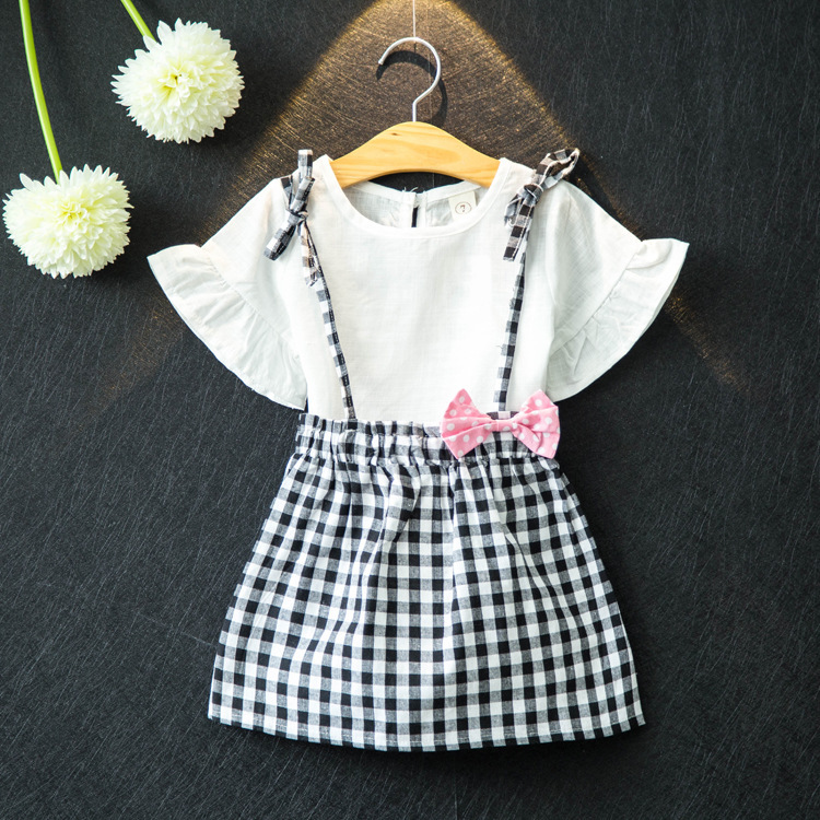 kids summer blouse girls children&39;s dresses set children&39;s two-piece little girls clothing boutique outfits suit